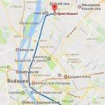 Az Árpád úti lakás elhelyezkedése Budapesten